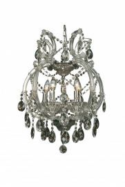 4307-5c 5 Light Clear Crystal Chandelier, Crystal And Iron, Chrome Canapoy