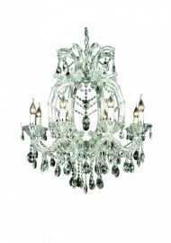 4307c 8 Light Clear Crystal Chandelier