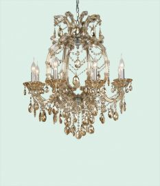 4307gt 8 Light Champagne Crystal Chandelier