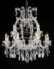 4307l-c 12 Light Clear Crystal Chandelier