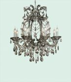 4307smk 8 Light Smoky Color Crystal Chandelier
