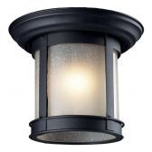 514F-BK Outdoor Flush Mount Light, Black