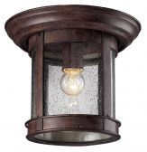 515F-WB Outdoor Flush Mount Light, Weathered Bronze