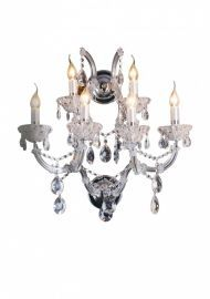 535wb-c 6 Light Wall Sconce, Clear Crystal