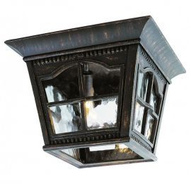 "Dutch 10 3/4"" Wide Outdoor Ceiling Light In Black"