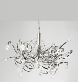6046 SN Clear Ribbon Chandelier