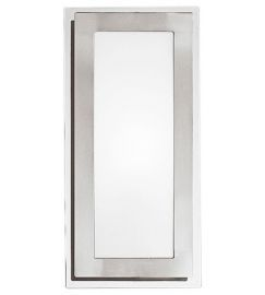 82221A 1-Light Wall/Ceiling Light, Matte Nickel & Chrome