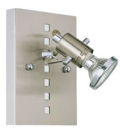 82242A 1-Light Wall Light, Matte Nickel & Chrome