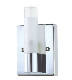 83731A 1-Light Wall Light, Chrome