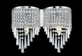 868CH-2V 2 Light Crystal Vanity Light, Chrome
