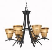 90086ORB Wright 6 Light Chandelier