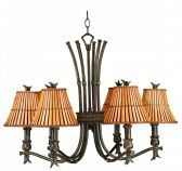 90456BH Kwai 6 Light Chandelier
