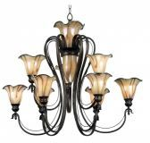90899TS Inverness 12 Light Chandelier
