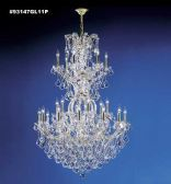 93147GL11P SPECTRA Crystal combined with other High Quality Crystals Chandelier
