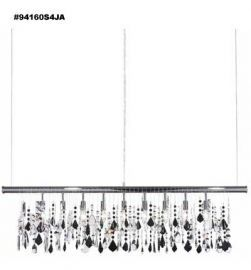 94160S4JA Jet Black Hand-Cut w/ REGAL Hand-Cut accents Island  Chandelier