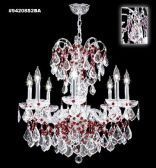 94208S2RA IMPERIAL with Rosa Accents Chandelier