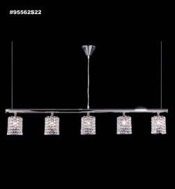 95562S0C Broadway Collection STRASS® Swarovski® Crystal Blue AB (Aurora Borealis)  Island Chandelier