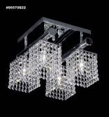 95570S0T Broadway Collection STRASS® Swarovski® Crystal Golden Teak Flushmount Pendant