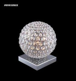 95932S00LED Sun Sphere Europa Collection STRASS® Swarovski® Crystal Clear  Table Lamp