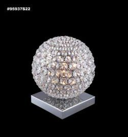 95937S00LED Sun Sphere Europa Collection STRASS® Swarovski® Crystal Clear  Table Lamp