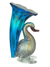 Aa12096 Duck Lily Favrile Accent Lamp