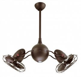 Acqua-Textured Bronze-Metal Blades Ceiling Fan