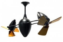 Ar Ruthiane-Black-Wood Ceiling Fan