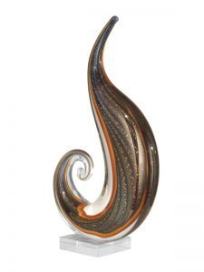 As11110 Art Glass Scroll Sculpture
