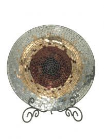 Av10724 Antique Gold Mosaic Charger
