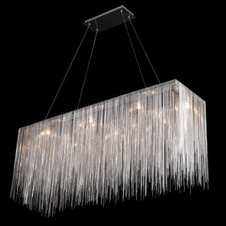 Hf1201-ch Chrome Jewelry Rectangle Hanging Fixture