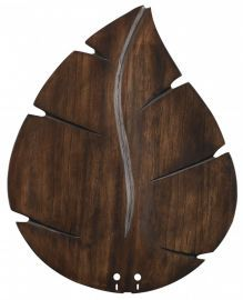 "B5280wa 22"" Wide Oval Leaf Carved Wood Blade, Walnut Fan Blades"