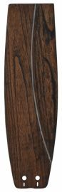 "B5330wa 22"" Soft Rounded Carved Wood Blade, Walnut Fan Blades"