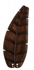 "B5340wa 22"" Oval Leaf Carved Wood Blade, Walnut Fan Blades"