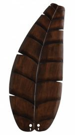 "B5350wa 26"" Oval Leaf Carved Wood Blade, Walnut Fan Blades"
