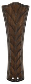 "B6060wa 26"" Concave Ribbed Carved Blade, Walnut Fan Blades"