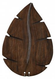 "B6080wa 26"" Wide Oval Leaf Carved Wood Blade, Walnut Fan Blades"