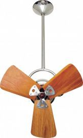 Bianca Direcional-Chrome-Wood Ceiling Fan