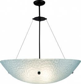 "Bowl Bronze Hardware 6x22 Ceiling Mount Incandescent Phantom Frost 53"" OA Drop Ceiling Fixture"