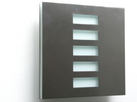 Basic Pared Sconce Jalousie Brushed Stainless Wall Sconce