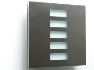 Basic Techo Flush Mount Jalousie Brushed Stainless Wall Sconce