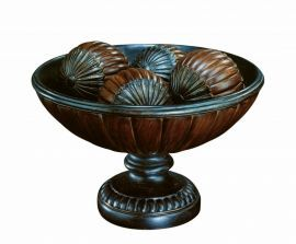 "C4997 Table Top - Dark Bronze/ant. Gold, 7.75""h x 12.50""w"
