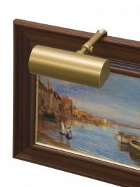 "Contemporary 5"" Gold Picture Light"