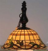 C71251 Pendant - Dark Bronze/tiffany Shade, E27 A 100W