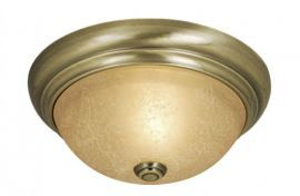 "15"" Flushmount Antique Brass"