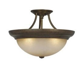 "17"" Semi-Flush Ceiling Light Royal Bronze"