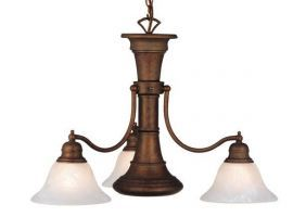 Standford 4 Light Chandelier Weathered Patina