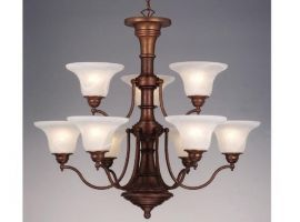 Standford 9 Light Chandelier Weathered Patina
