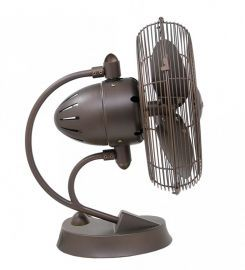 Cinni-Textured Bronze Portable Fan