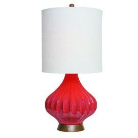 "31.5""H Red-Orange Fairfax  Table Lamp"