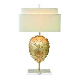 "30""H Silver Tortoise Table Lamp"